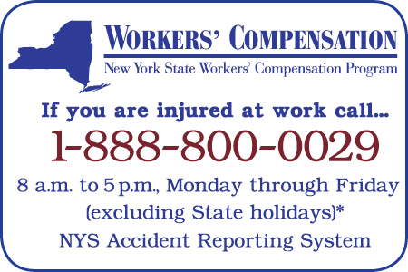 Workers Compensation Card with Phone Number