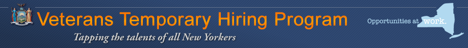 Veterans Temporary Hiring Program